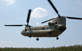 Picture the sky, clouds, Boeing, the rise, CH-47 Chinook, military transport, Chinook