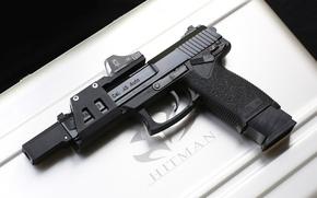 Picture gun, weapons, box, Heckler & Koch, Mark 23