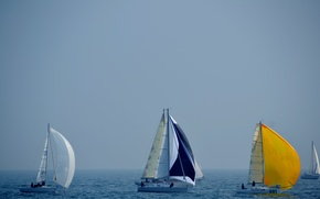 Picture sea, the sky, boat, yacht, sail