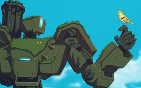 Wallpaper SST Laboratories Siege Automaton E54, fps, bastion, overwatch, robot, art