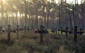 Wallpaper crosses, background, cemetery