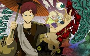 Wallpaper ichibi, pran, naruto, sabaku from gaara, character, umbrella