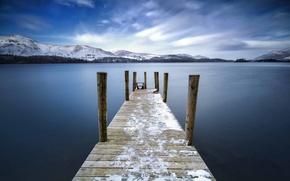 Picture bridge, lake, England, Keswick