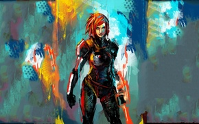 Wallpaper effect, mass, effect, FemShep, mass
