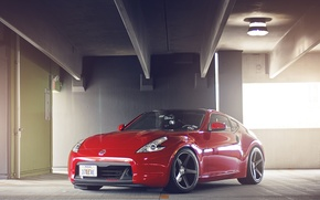 Picture red, Nissan, 370z