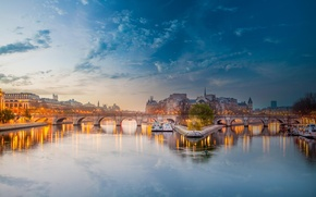 Picture water, bridge, river, France, Paris, Hay, Paris, France, His