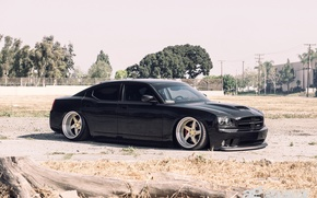 Picture black, dodge, charger, srt8
