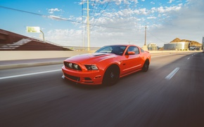 Picture Mustang, Ford, GTR, Mustang, Red