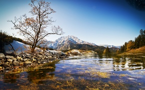 Picture the sky, landscape, mountains, nature, river, Lake, wallpapers