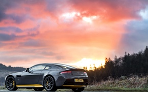 Picture car, machine, sunset, photo, Aston Martin, Aston Martin, wallpaper, V12, Vantage S, Sport-Plus Pack