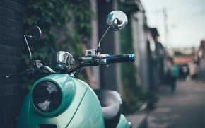 Picture style, headlight, retro, green, vespa, scooter, retro, stile, Vespa, moped, the wheel