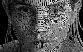 Picture typography, face, letter