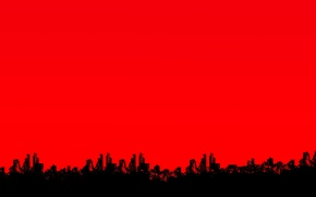Wallpaper the sky, the city, home, silhouette