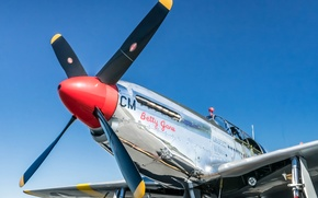 Picture retro, the plane, Mustang, TP-51C, Betty Jane