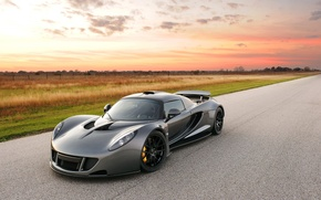 Picture the sky, supercar, the front, Hennessey, Venom GT, Hennessy, Dark Knight, Venom GT