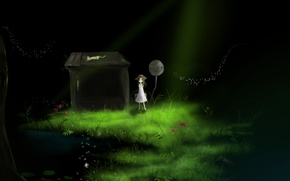Picture grass, cat, water, light, flowers, house, sign, hat, anime, art, girl, bag, youtube