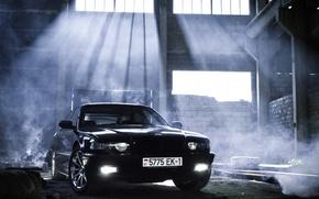 Picture car, light, tuning, smoke, bmw, smoke, tuning, Boomer, seven, e38, 7 series, bumer