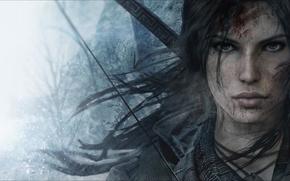 Picture girl, face, hair, art, beauty, lara croft, tomb raider, fan art, Crystal Dynamics, Rise of …