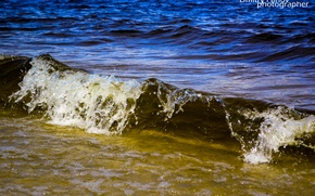 Picture sand, sea, wave, summer, blue, Water