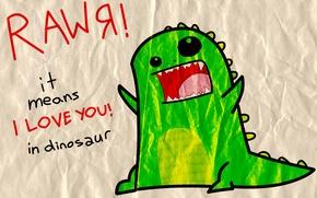Wallpaper love, RawЯ, Dinosaur