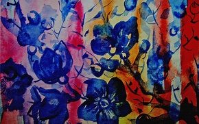 Picture flowers, abstraction, strip, Figure