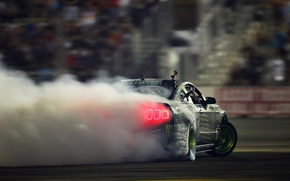 Picture Mustang, Ford, Drift, Glow, Smoke, Tuning, Competition, Sportcar, Backlight