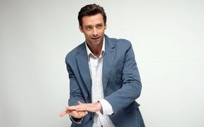 Picture actor, male, shirt, jacket, Hugh Jackman, Hugh Jackman, beautiful
