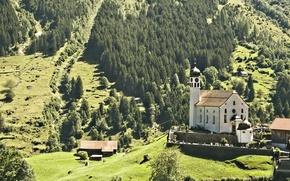 Picture mountains, the city, Austria, the Church