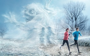 Picture winter, frost, mug, runners, fred perrot