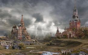 Wallpaper the storm, Apocalypse, Kreml, autumn