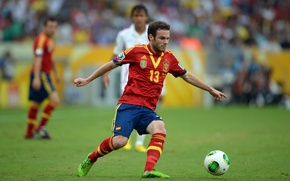 Picture football, Spain, Adidas, the leader, football, Chelsea, Football, Spain, Juan Mata, Juan Mata, playmaker, Confederation …