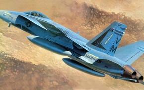 Picture figure, hornet, F/A-18, marines, Douglas, Hornet, McDonnell, Marines, carrier-based fighter-bomber