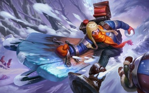 Picture League of legends, LoL, Snowdown, Singed, Snowday