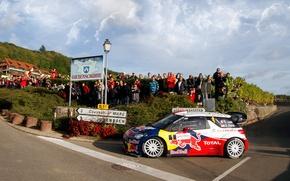 Picture The sky, Auto, Sport, Machine, People, Turn, Race, Asphalt, Citroen, Day, Citroen, DS3, WRC, Rally, …