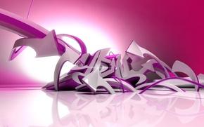 Picture Pink, Graffiti, Plastic