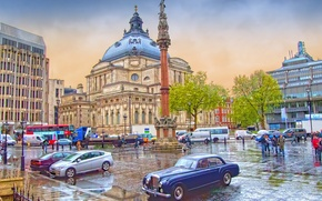 Picture people, England, London, home, area, cars, column