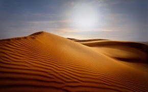 Picture sand, the sky, the dunes, desert, dunes