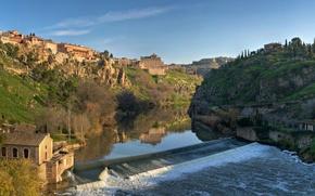 Picture river, home, dam