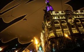Picture lights, wire, Windows, Saint Petersburg, lantern, center, singer
