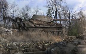 Picture Germany, tank, tanks, Germany, WoT, World of tanks, Panzerkampfwagen V Panther, tank, World of Tanks, …