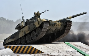 Wallpaper water, army, tank, Russia, T-90 and