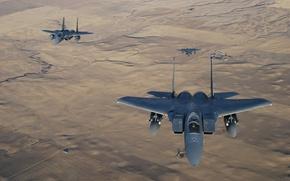 "Picture three, Eagle, flight, ""Eagle"", fighters, F-15"
