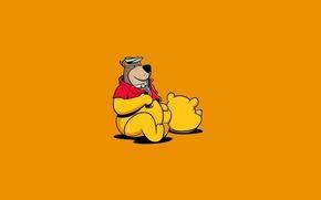 Picture Minimalism, Humor, Bear, Art, Winnie The Pooh