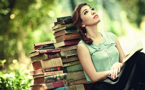 Picture girl, mood, books