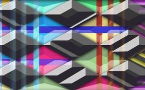 Picture yellow, Wallpaper, red, Rainbow, red, orange, black, colorful, grey, yellow, blue, stripes, orange, shadow, zero