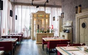 Picture design, style, interior, the restaurant Piazza Italiana