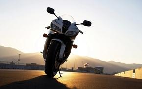 Wallpaper the sun, racing, Moto, track