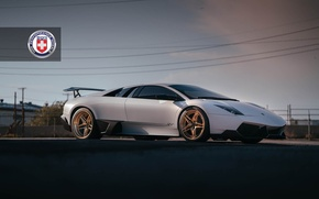 Picture Lamborghini, with, Murcielago, Wheels, HRE