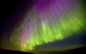 Picture the sky, stars, night, Northern lights