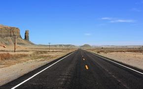 Picture road, summer, landscape, mountains